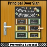 Earth Tones Where is the Principal Sign, Bosses Day NOT EDITABLE