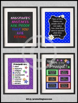 Where is the Principal Door Sign Principal Office Decor BUNDLE of Posters