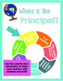 Where is the Principal? Travel Theme Location Wheel