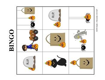 Where is the Pumpkin?  A  Bilingual Preposition BINGO Game