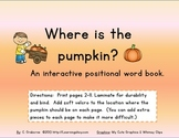 Where is the Pumpkin? An interactive positional word book