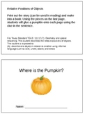 Where is the Pumpkin? Positional Words Practice