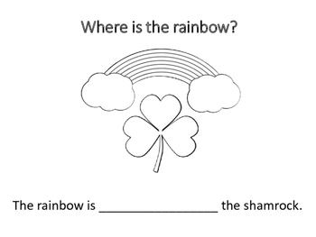 Where is the Rainbow? Preposition Book and Matching Game
