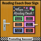 Where is the Reading Coach Sign, Colorful Door Poster NOT EDITABLE