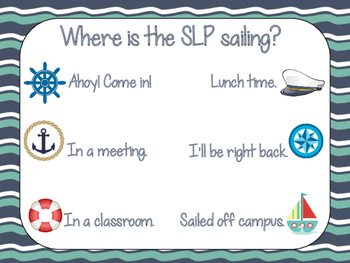 Where is the SLP?- Door Poster (Nautical Themed)