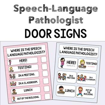 Where is the SLP? SLP Door Sign - Editable*