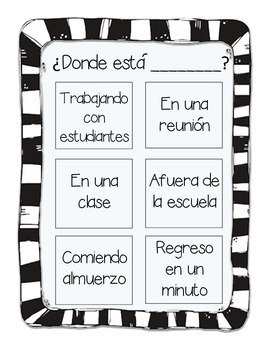 Where is the SLP? Useful Door Poster/Decor in English and Spanish