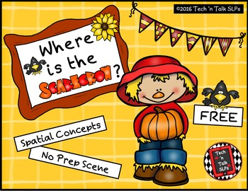 Where is the Scarecrow? - Spatial Concepts FREEBIE