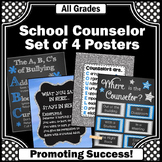 Blue and Gray Where is the Counselor Sign, Counseling Office Decor BUNDLE