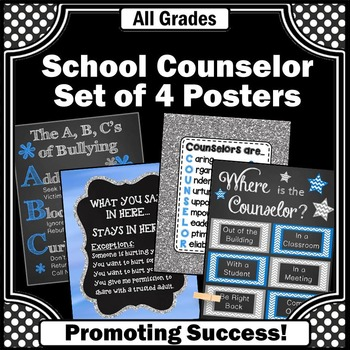 End of the Year Counselor Appreciation Gift, Blue & Gray Counseling Office Decor
