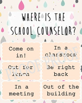 Where is the School Counselor? Clip poster Guidance Lunch Bunch Counseling