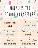 Where is the School Counselor? Clip poster Guidance Lunch