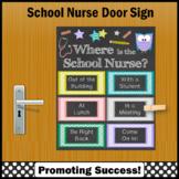 Where is the School Nurse Door Sign Appreciation Gift NOT EDITABLE