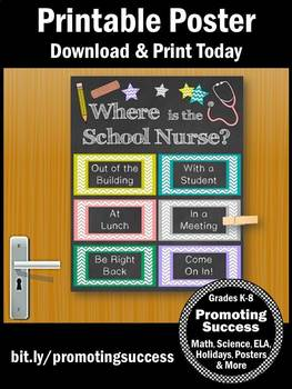 Where is the School Nurse Office Sign 8x10 or 16x20