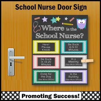 Where is the School Nurse Office Door Sign 8x10 or 16x20