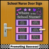 Where is the School Nurse Sign Pink and Purple 8x10 or 16x20 NOT EDITABLE