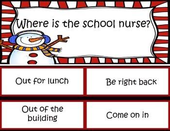 Where is the School Nurse Poster for Door