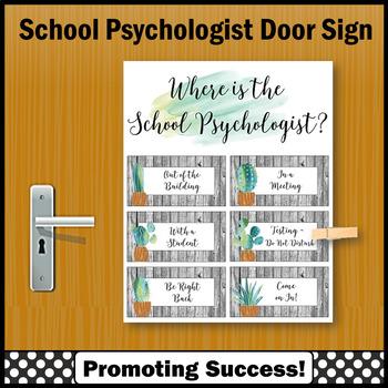 Where Is The School Psychologist Door Sign Succulents Cactus Not