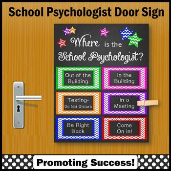 Where is the School Psychologist Sign Colorful Psychology Office Decor