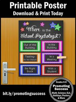 Where is the School Psychologist Sign, School Psychologist Office Decor Gift