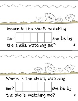 """Where is the Shark""  Digraph sh Sight Word Reader Book"