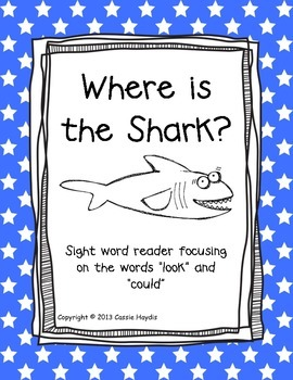 """""""Where is the Shark""""  Digraph sh Sight Word Reader Book"""