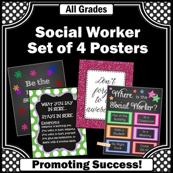 Where is the Social Worker Office Door Sign Confidentiality Rules Colorful