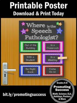 Where is the Speech Pathologist Sign, Speech and Language Pathologist Gift Idea