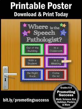 Where is the Speech Pathologist Sign, Office Door Decor