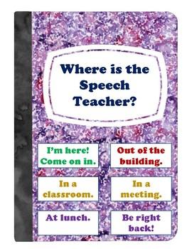 Where is the Speech Teacher? Clip Chart