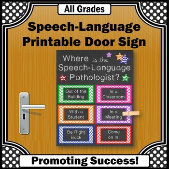 Speech and Language Pathologist, SLP Door Sign, Speech The