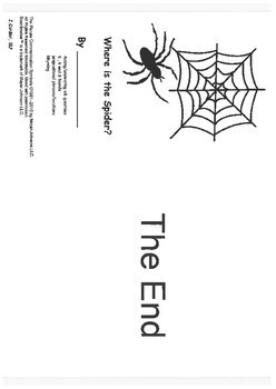 Where is the Spider?- mini book