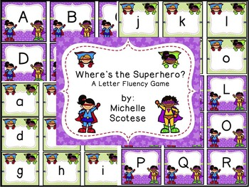 Where is the Superhero? A Letter Fluency Game