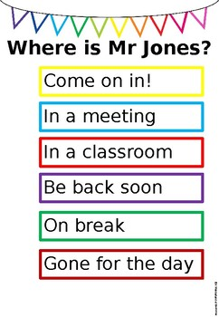 Where is the Teacher