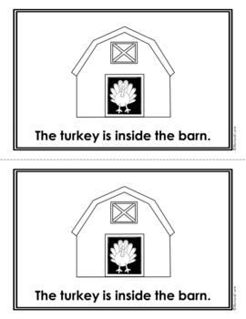THANKSGIVING EMERGENT READER High Frequency Words Predictable Text