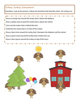 Thanksgiving ~ Where is the Turkey? Prepositions and Conceptual Terms
