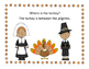 Where is the Turkey? Spatial Concepts Activity