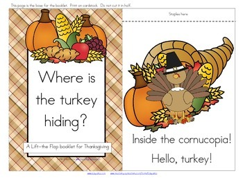 Thanksgiving Interactive Emergent Reader, plus Word Wall, Stick Puppets, more.