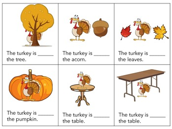 Where is the Turkey?? Thanksgiving Prepositions