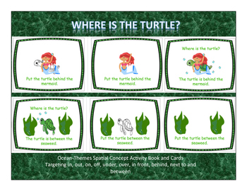 Where is the Turtle? Ocean-Themed Spatial Concept Book/Cards