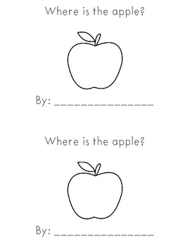 Where is the apple- positional words activity book, easy reader