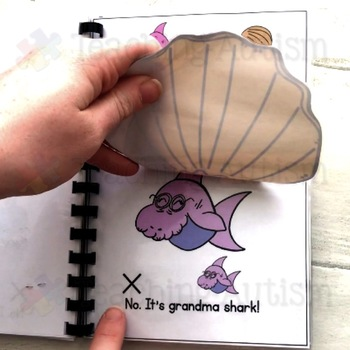 Where is the baby shark? Interactive, adapted book