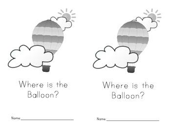 Where is the balloon? FREEBIE