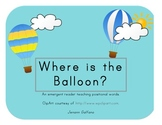 Where is the balloon? FREEBIE