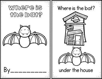 Where is the bat? (Pocket Chart Activity)