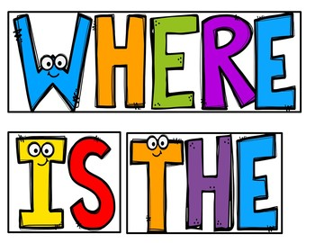 Where is the Bat? (Pocket Chart Activity and Student Book)