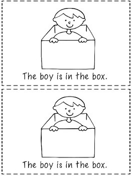 Where is the boy?  - A Positional Word Booklet