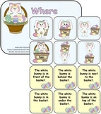 Where is the bunny? Prepositions and adverbs of place.