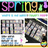 Where is the bunny? peep? flower? SPRING pocket chart bundle