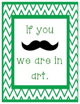 Where is the class? Mustache and Chevron Sign Printables